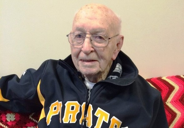 * Elmer Gray, 91, passed away Monday night and a moment's silence was observed for the Pittsburgh Pirates scout, with Elmer's picture on the Jumbotron before Tuesday's game at PNC Park.  The picture above was taken at Pittsburgh International Airport on Jan. 18 heading to the Professional Baseball Scouts Foundation banquet in Beverley Hills, Calif. This story is from May the last time we spoke. Main photo: Pittsburgh International Airport Timeline Photos. ...