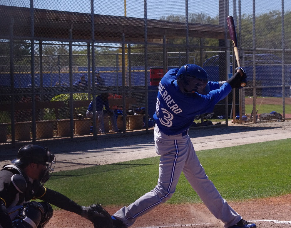 Emilio Guerrero is hitting .235 with an .641 OPS in the Arizona Fall League.