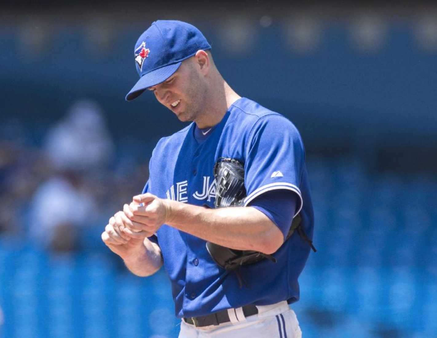THE SIGNING OF J.A. HAPP (AND SIMULTANEOUS REALIZATION THAT PRICE WILL LIKELY NOT BE A BLUE JAY) HAS LEFT SOME FANS PUZZLED. BUT IT'S NOT ALL DOOM AND GLOOM FOR THE 2016 ROTATION. (PHOTO : CHRIS YOUNG / THE CANADIAN PRESS)