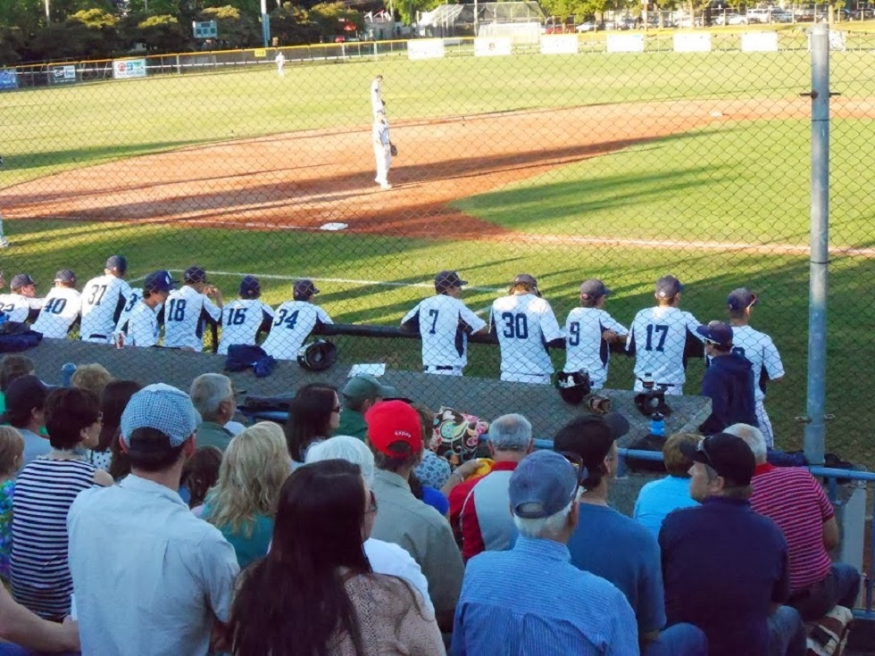 Royal Athletic Park in Victoria, BC where fans come each summer to watch the West Coast league's Victoria HarbourCats.