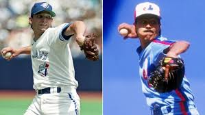 Former Blue Jays RHP Pat Hentgen, left, and Montreal Expos RHP Dennis Martinez great were selected to the Canadian Baseball Hall of Fame in St. Marys.