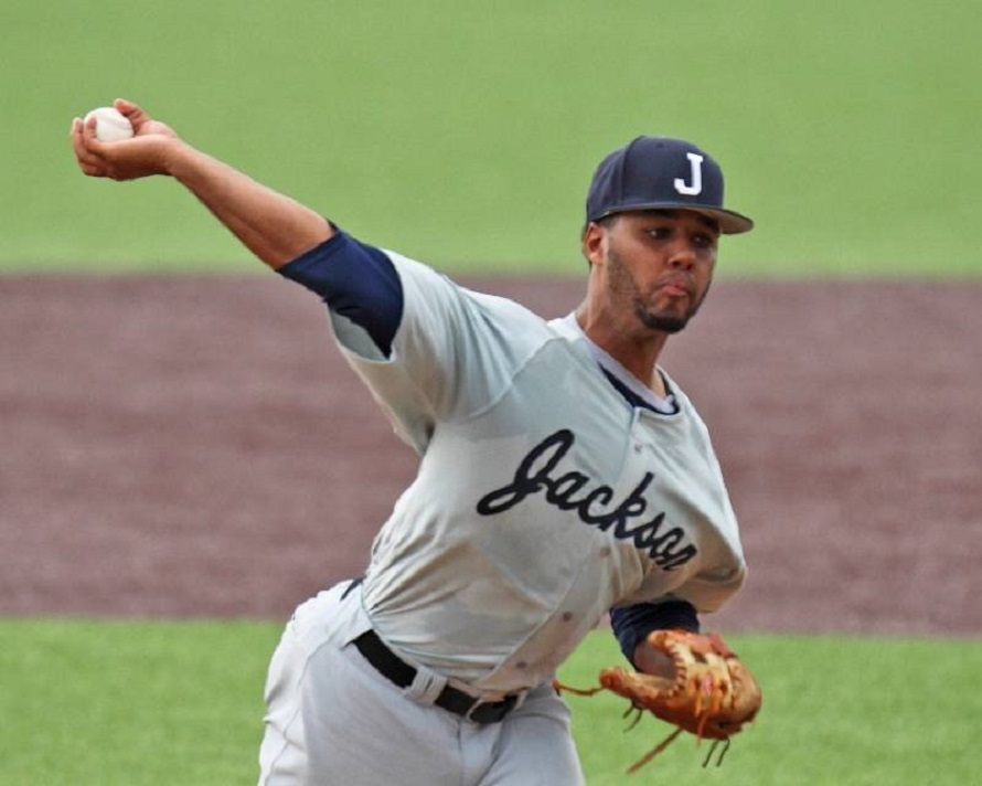 RHP Jevon Jacobs (Ajax, Ont.) of the Jackson State Tigers is ranked the ninth best prospect in the Southwestern conference by Baseball America.