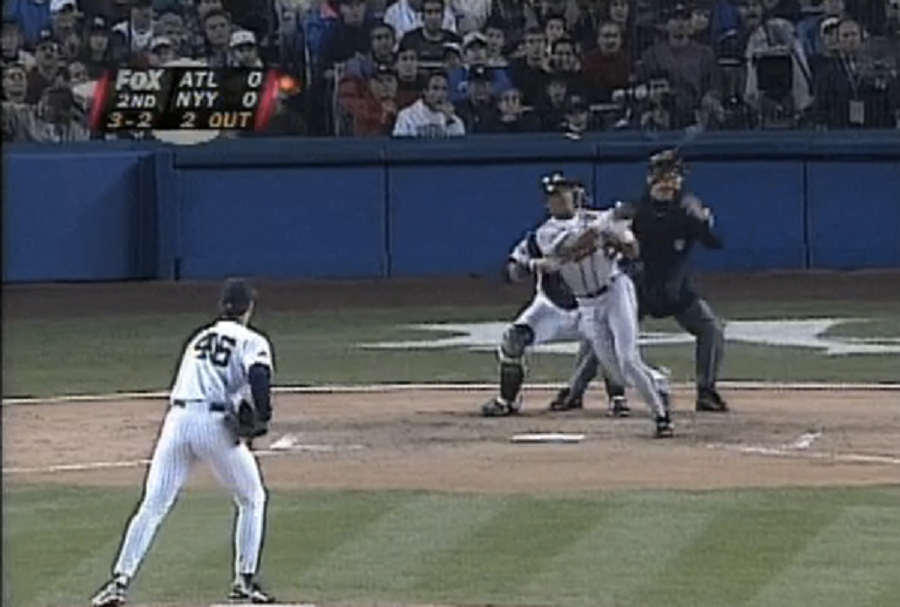 Atlanta Braves CF Andruw Jones, 19, homered in his first World Series at-bat in 1996 and went deep next time up ... bumping Mickey Mantle from the WS record books.