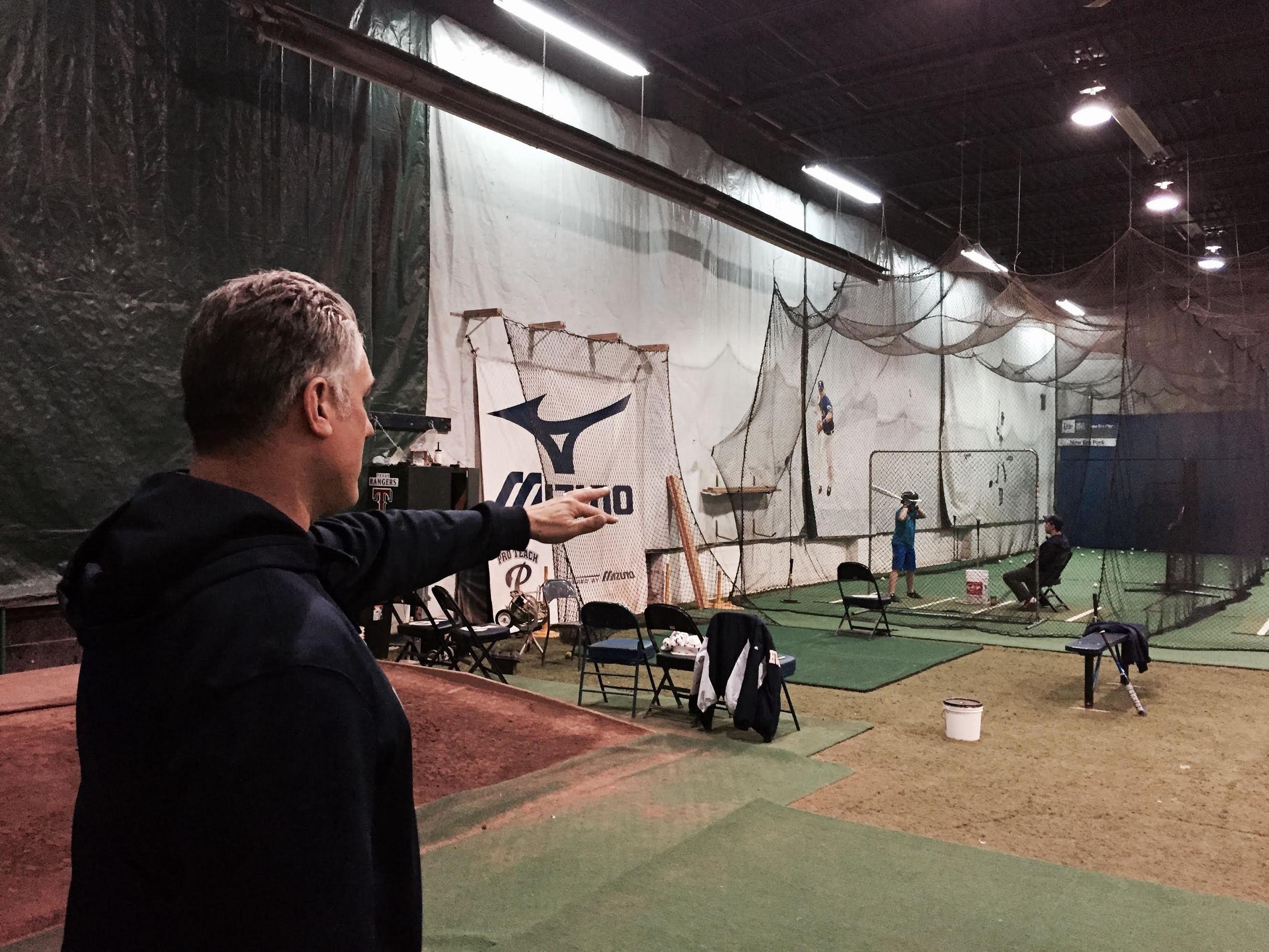 Denny Berni shows of his Pro Teach facility in Etobicoke. (Tyler King/CBN)