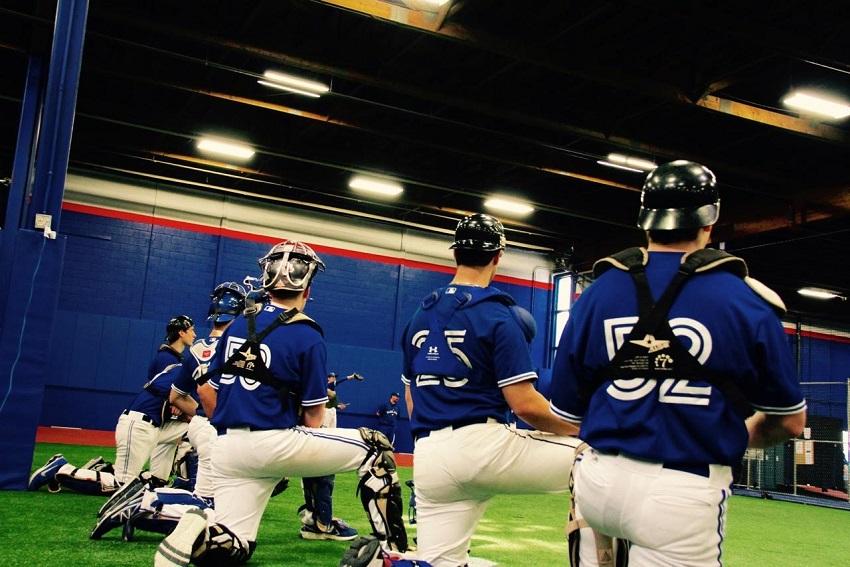 Ontario Blue Jays work out ... Photo: Tyler KKing.