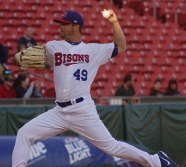 Wade LeBlanc fanned eight, allowing one run on four hits and a walk in a win for the triple-A Buffalo Bisons. Photo: Jay Blue.