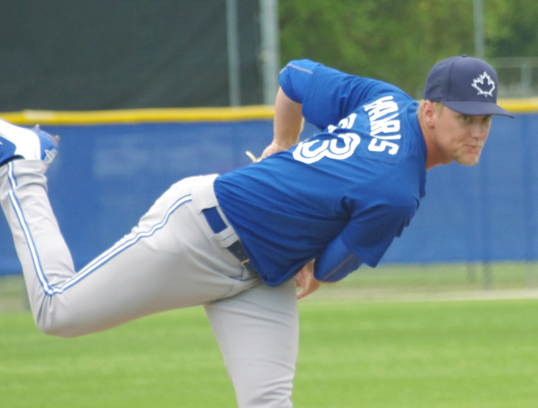 RHP Jon Harris pitched five scoreless for class-A Lansing scattering six hits and walking one while striking out a pair. Photo: Jay Blue.