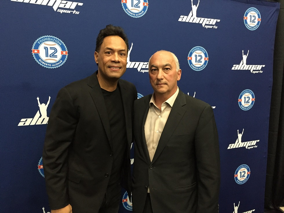 Hall of Famer Robbie Alomar will be running his baseball academy out of Tony Caputo's Out of the Park Sports in Scarborough. Photo: Steve Tyas.