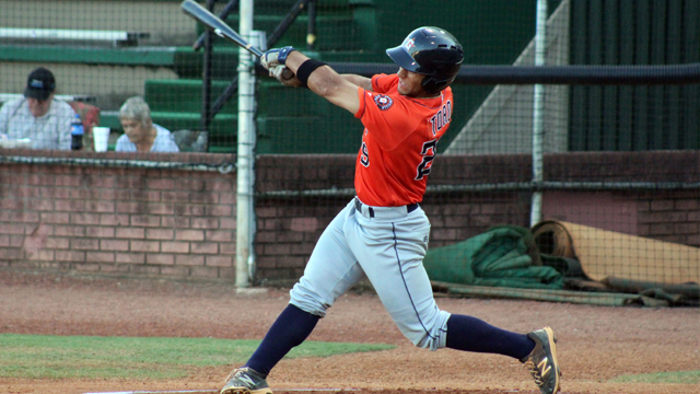 3B Abraham Toro-Hernandez with the class-A Greenville Astros