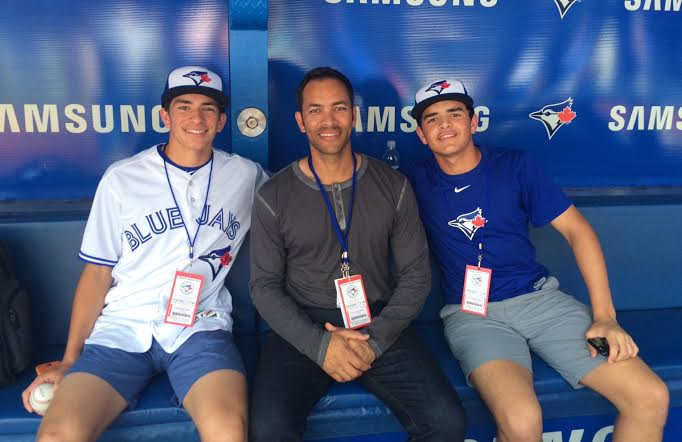 Trei Cruz, who was born in Toronto, his father, former Blue Jays OF Jose Cruz, and his younger brother Antonio.