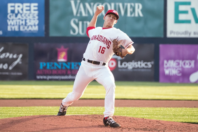 North Shore Twins grad, RHP Will McAffer (North Vancouver, BC) is off to a fast start with the class-A Vancouver Canadians.