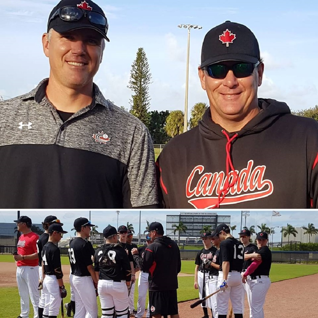 Former Toronto Blue Jays, brothers Rich, left, and Rob Butler guided the 15U team in Florida. Photo: Reyna Stevenson.