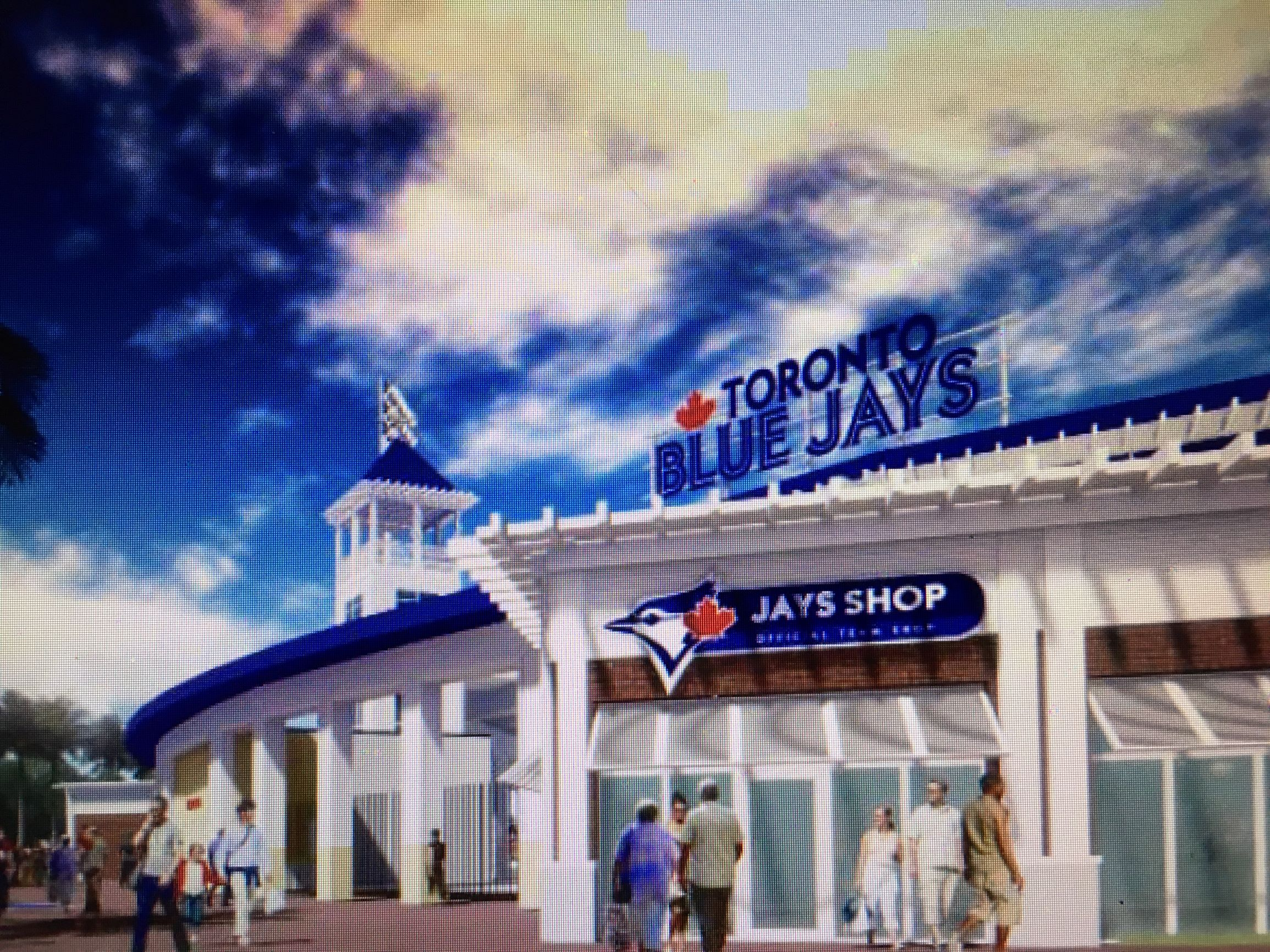 Another view of the design of the future Dunedin Stadium, which officials say will be ready for spring training 2020.
