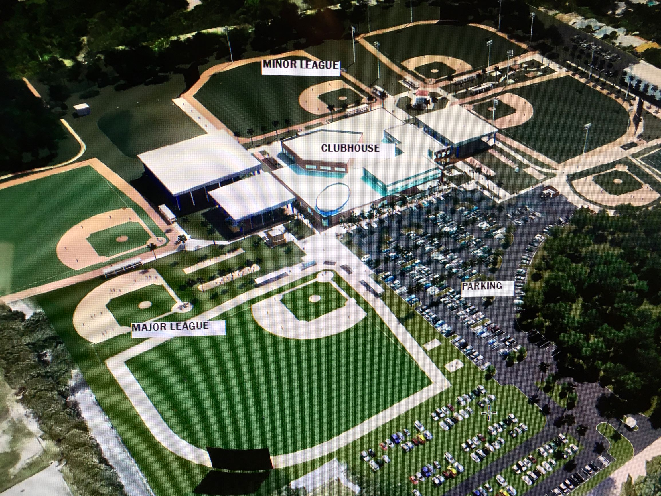 A look at the layout of the future Toronto Blue Jays' Player Development Centre which will replace the club's existing minor league complex in Dunedin, Fla.