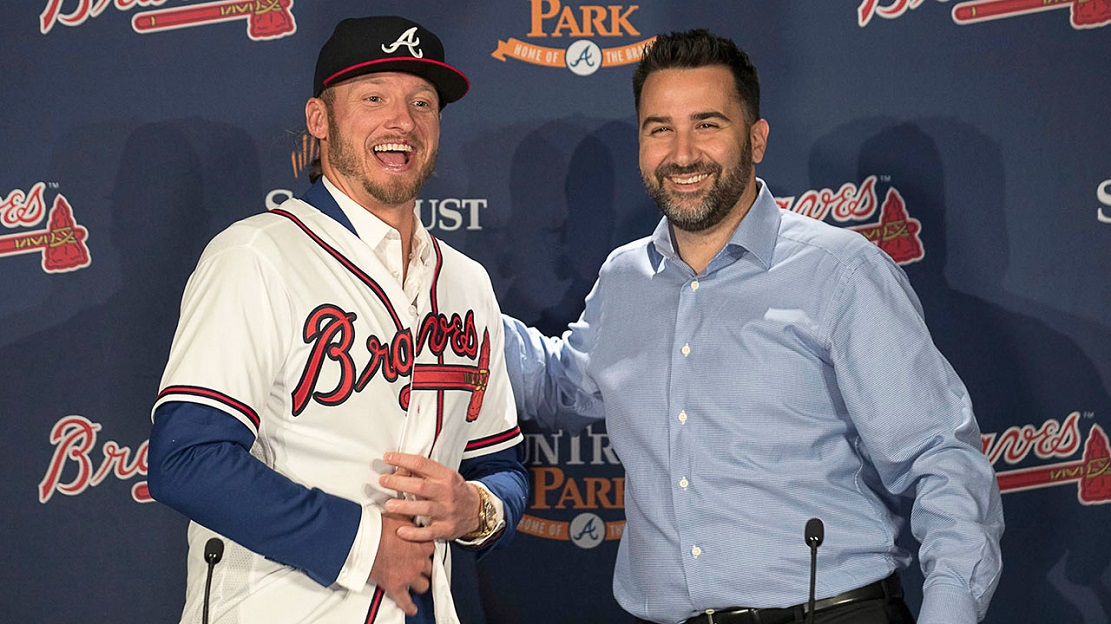 Alex Anthopoulos (Montreal, Que.) made poat seasson play with the Braves and then landed ex Blue Jays MVP Josh Donalson.
