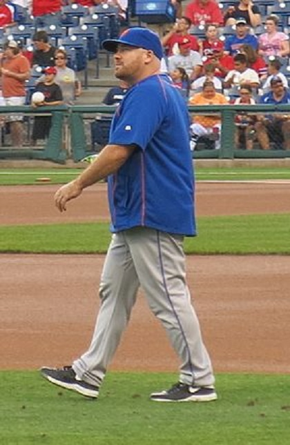 Eric Langill (Kirkland, Que.) is a bullpen catcher for the New York Mets.