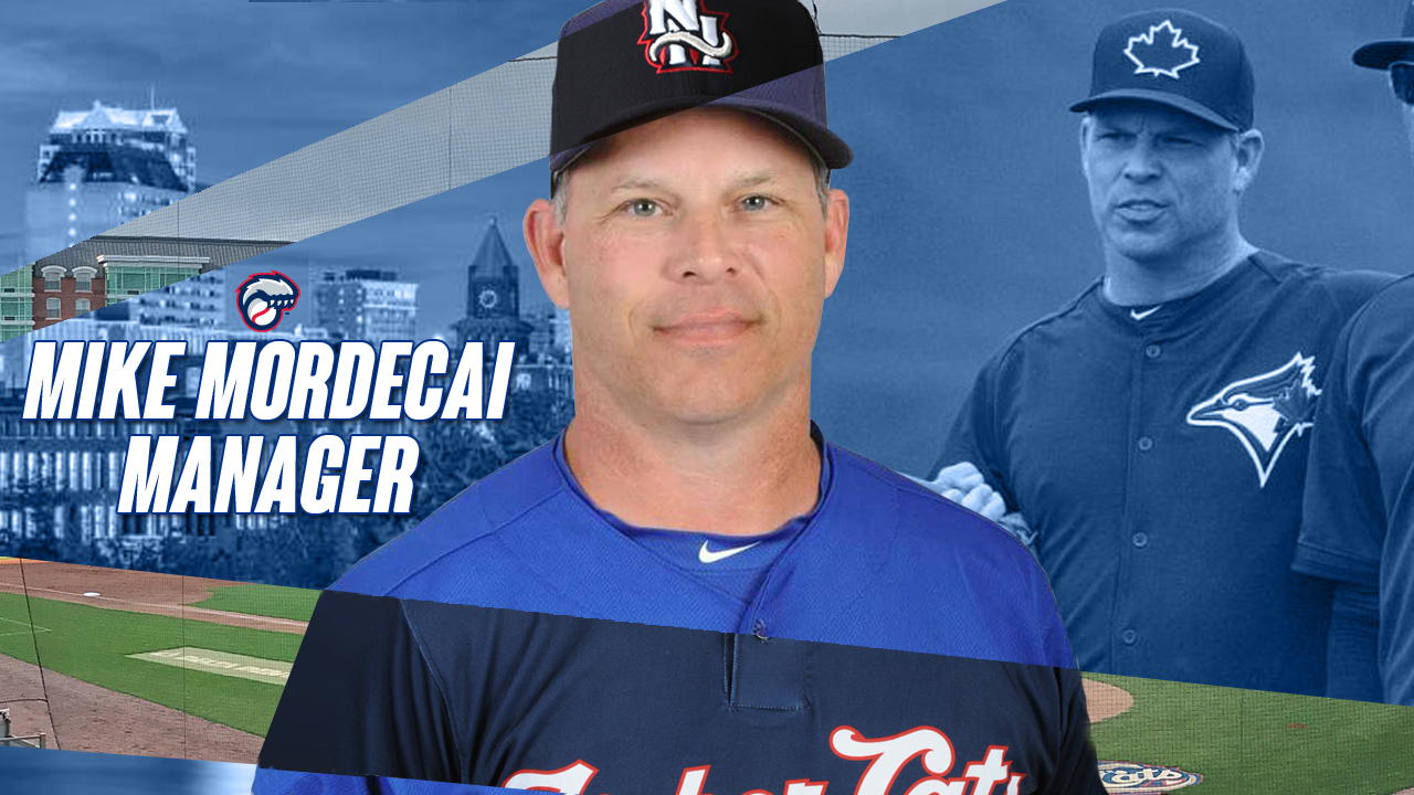 Mike Mordecai has been named manager of the Toronto Blue Jays' double-A New Hampshire Fisher Cats.