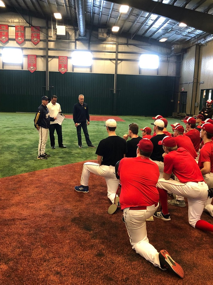 Scouts from the Milwaukee Brewers visited the Okotoks Dawgs Academy this past weekend. Photo Credit: Okotoks Dawgs Academy/Twitter