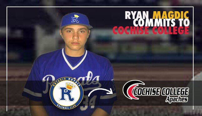 Ontario Royals alum Ryan Magdic (Beamsville, Ont.) had three multi-hit games for Cochise College this past week and is now batting .489 in 12 games for the season.