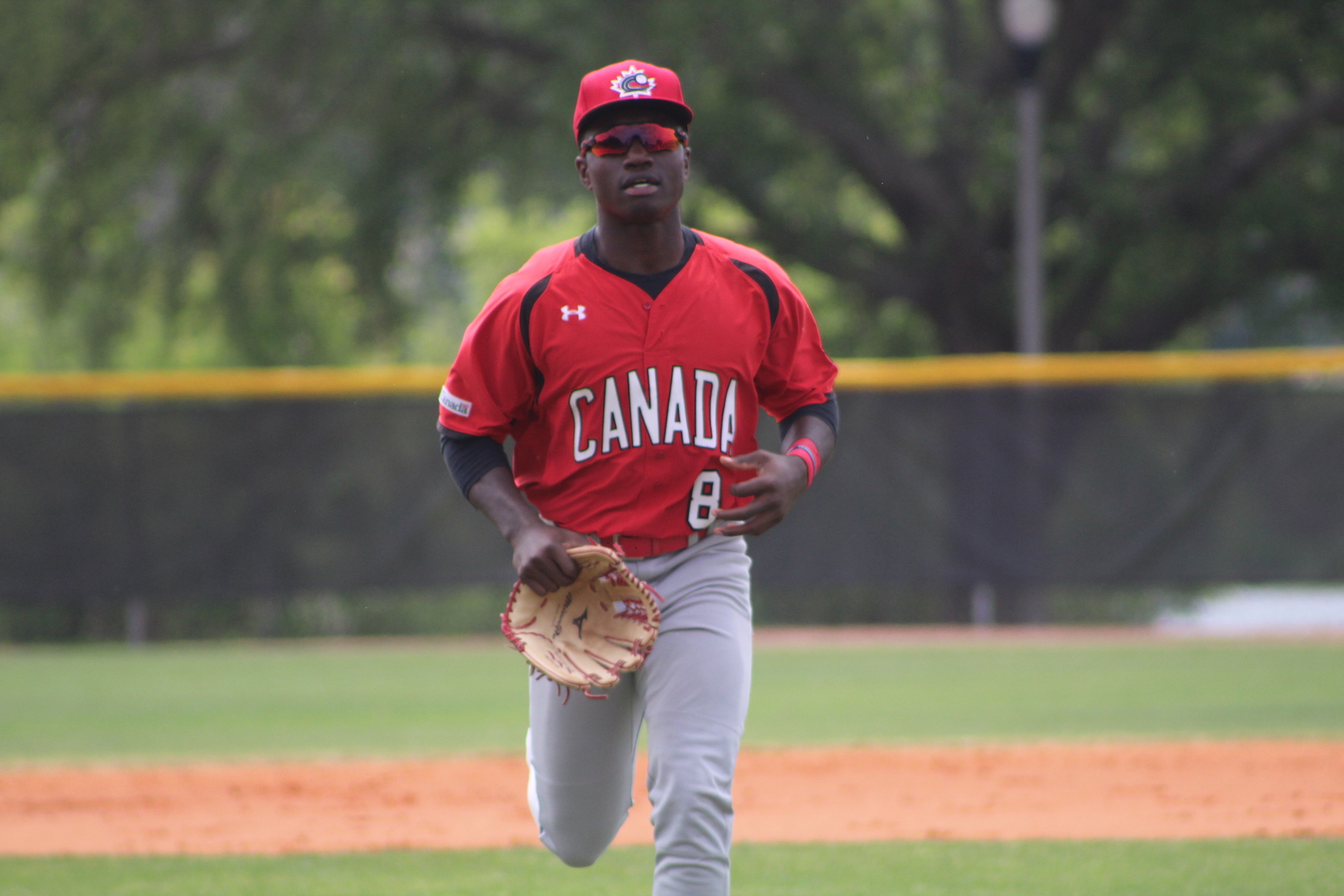 Ontario Blue Jays outfielder Dasan Brown (Oakville, Ont.) had a double and an RBI for the Junior National Team on Wednesday. Photo: Baseball Canada
