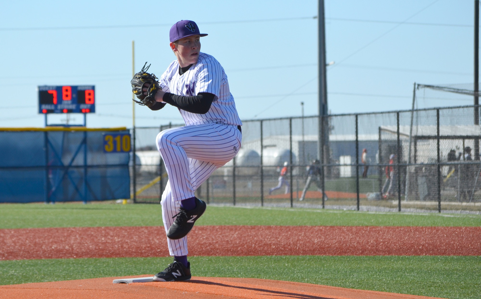 William Hlady (Dauphin, Man.) led Canadian pitchers in appearances with four for Iowa Wesleyan University. Photo: Iowa Wesleyan University