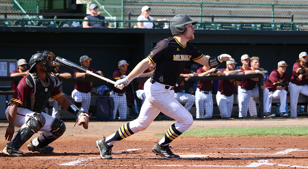 Matt Quartel (Sturgeon County, Alta.) had five hits and a .455 batting average for the Milwaukee Panthers. Photo: UWM Atheltics