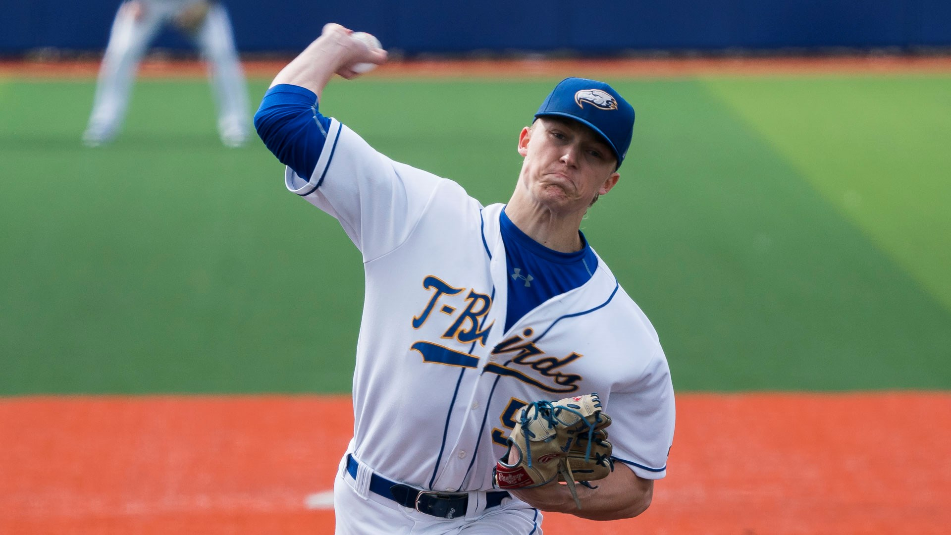 North Shore Twins grad James Bradwell (Gibsons, BC) allowed just one run over 5 1/3 innings in his his start for the UBC Thunderbirds this week.. In that start, he surrendered two hits, issued two free passes and punched out eight. Photo: Rich Lam/UBC Thunderbirds