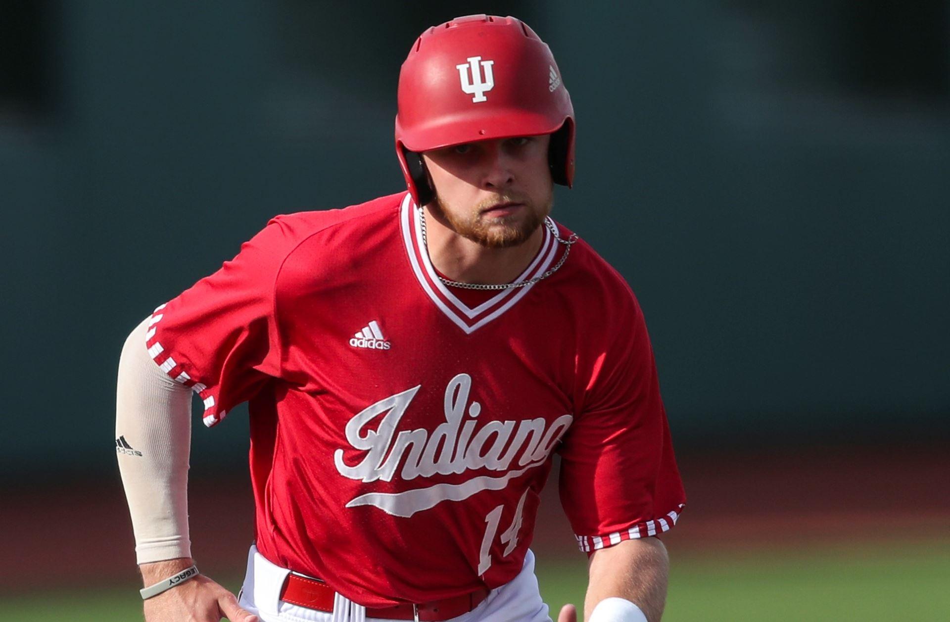 Okotoks Dawgs and Junior National Team alum Matt Lloyd (Okotoks, Alta.) had five home runs for the Indiana Hoosiers during the past week. Photo: Indiana Hoosiers Athletics