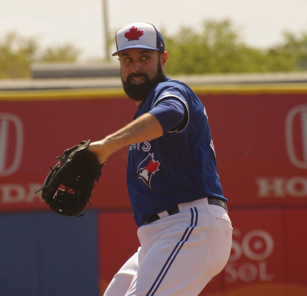 Right-hander Matt Shoemaker tossed seven scoreless innings for the second consecutive start to lead the Toronto Blue Jays to a win over the Baltimore Orioles on Wednesday. Photo: Jay Blue