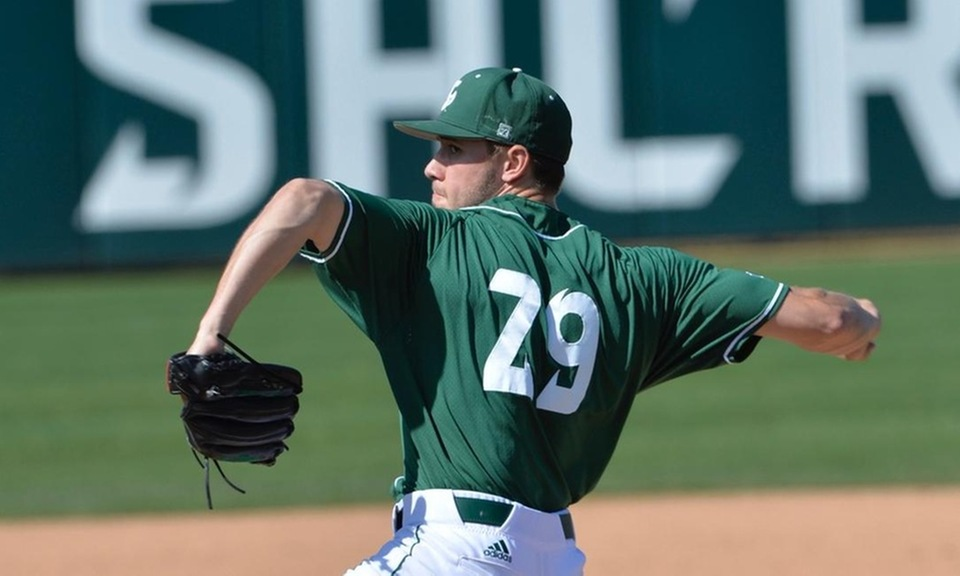 Prairie Baseball Academy grad Tanner Dalton (Lethbridge, Alta.) picked up two wins and a save in a four-game series with the Sacramento State Hornets this past week. Photo: Sacramento State Athletics (file photo)