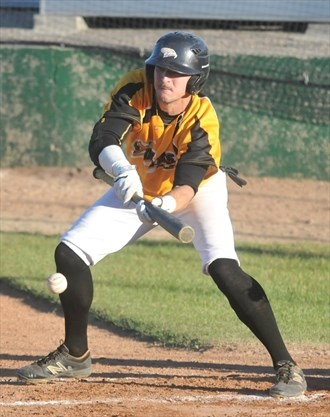 Eric Marriott (Niagara Falls, Ont.) had eight hits and four stolen bases for Mitchell.