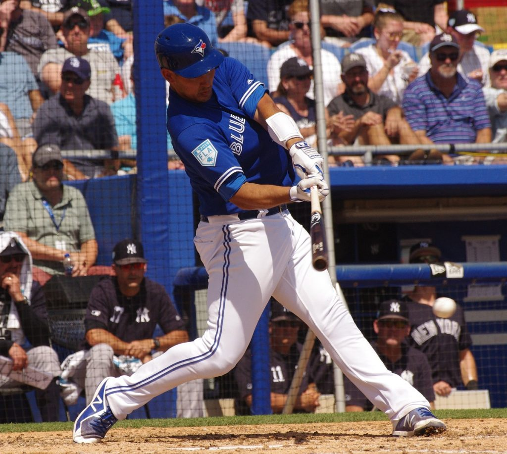 Luke Maile was 2-for-4 with a home run for the Toronto Blue Jays on Friday. Photo: Jay Blue (file photo)