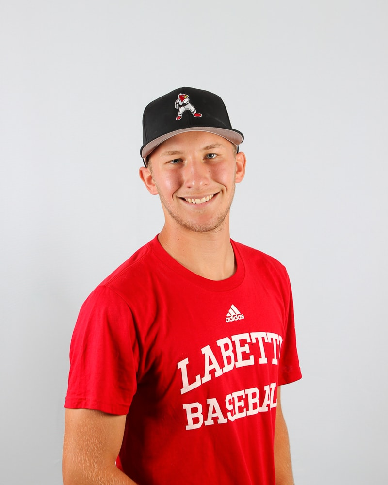 Fieldhouse Pirates alum Jordan Stamp (Brantford, Ont) threw a no-hitter for the Labette Community College Cardinals to lead them to a 4-0 win over the Evangel JV's on April 9. Photo: Labette Athletics