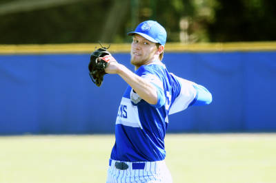 Prospects Baseball Academy alum Jackson Wark (St. Albert, Alta.) gave up just one run and struck out 10 in six innings to lead the University of St. Louis to a 4-1 win over the Bonnies of St. Bonaventure. Photo: University of St. Louis Athletics