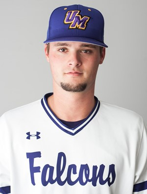 iCASE Huskies alum Brady Schnaar (Waterloo, Ont.) tossed 5 2/3 scoreless innings in two appearances for the Montevallo Falcons. Photo: Montevallo Falcons