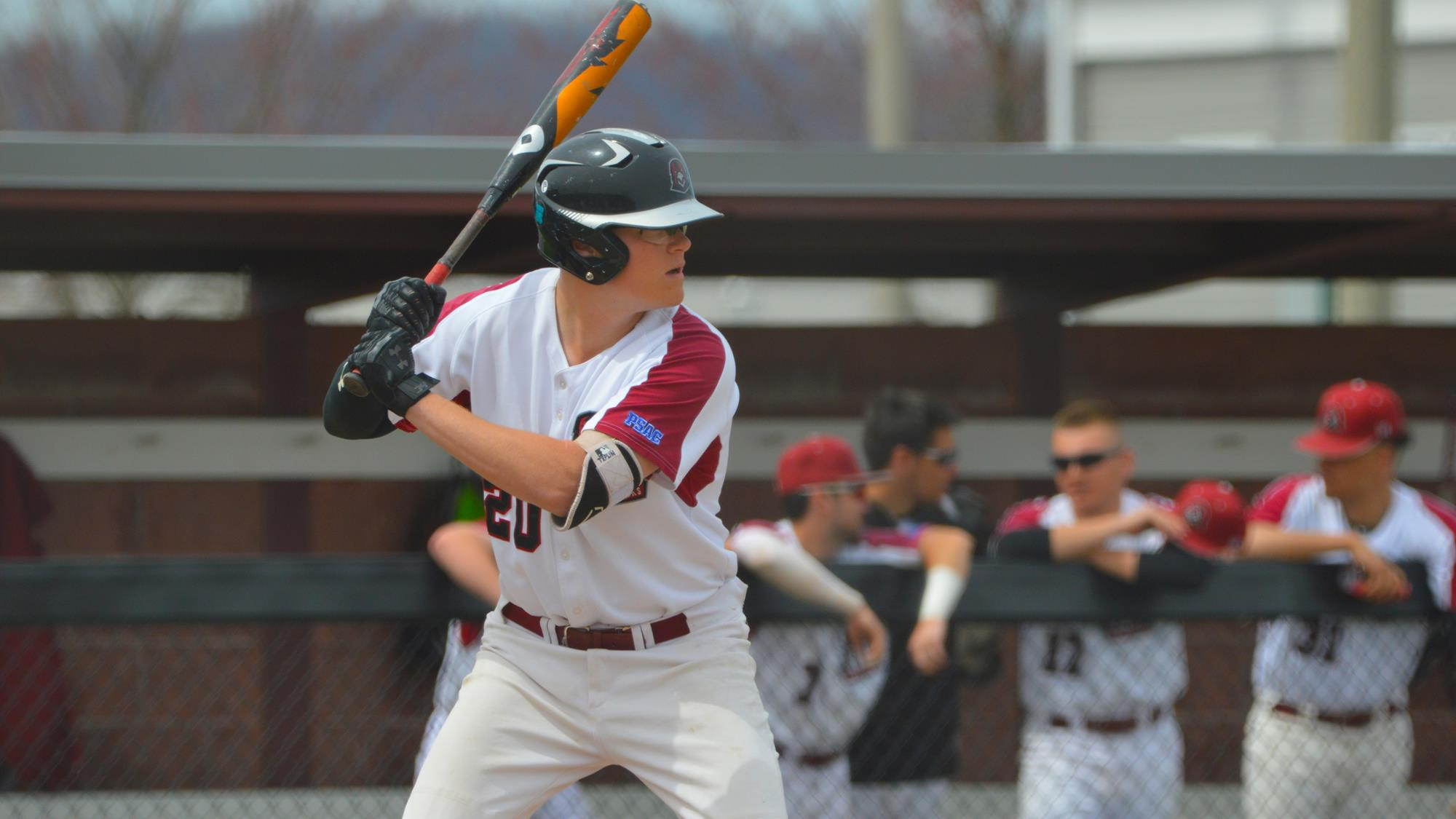 Toronto Mets alum Ben Teplin (Richmond Hill, Ont.) had five hits, four runs and four RBIs in three games for the IUP Crimson Hawks. Photo: IUP Athletics