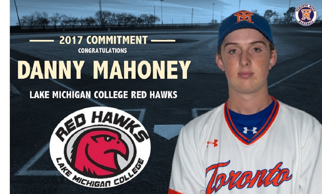 Former Toronto Met Danny Mahoney (Toronto, Ont.) had a six-hit weekend for the Lake Michigan Red Hawks.