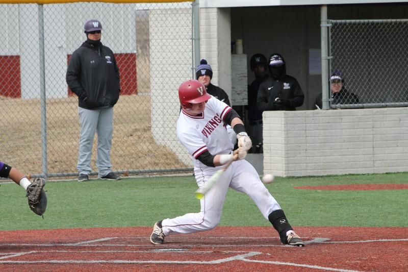 Elmwood Giants alum Aiden Brook (Oarbank, Man.), who has starred for Valley City State this year, was named the catcher on the NSAA All-Conference Second Team this past week. He has six hits and seven RBIs in his last five games. Photo: Valley City State Athletics