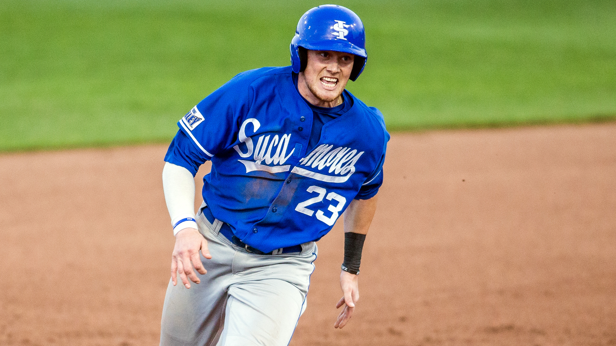 Okotoks Dawgs alum Dane Tofteland (Grande Prairie, Alta.) had five hits, including a home run, for the Indiana State Sycamores. Photo: Indiana State Athletics
