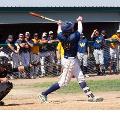 Toronto Mets alum Mitch Osborne (Lindsay, Ont.) had 10 hits - including two home runs - in seven games for Western Nebraska. Photo: Twitter