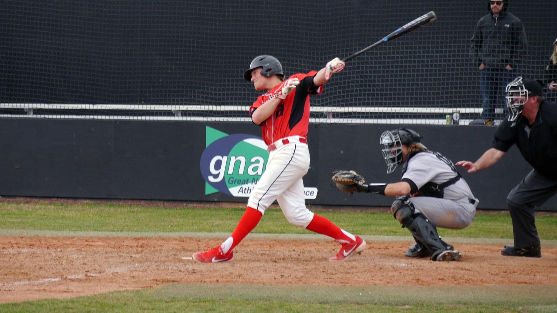 Vauxhall Academy grad Shawn Grandmont (Lethbridge, Alta.) batted .333 with four runs in three games for Northwest Nazarene. Photo: Northwest Nazarene Athletics