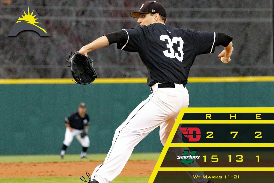 Great Lake Canadians alum Jordan Marks (Bright's Grove, Ont.) spun seven innings, allowed nine hits and two runs for the USC Upstate Spartans to lead them to a 9-2 win over Alabama State.