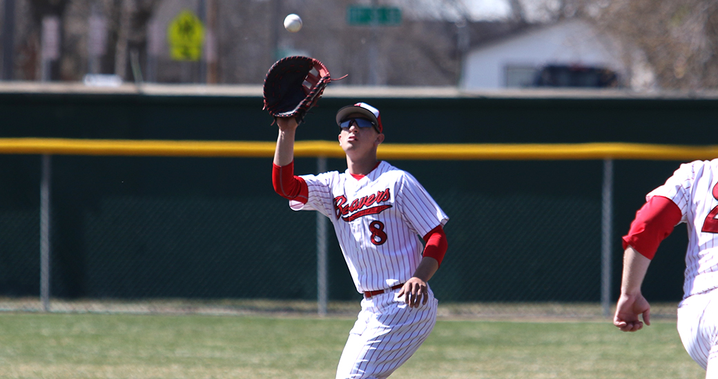 Vauxhall Academy grad Wyatt Schlosser (Saskatoon, Sask.) had nine hits, walked once, drove in eight and stole five bases in four games for the Minot State Beavers. Photo: Minot State Athletics