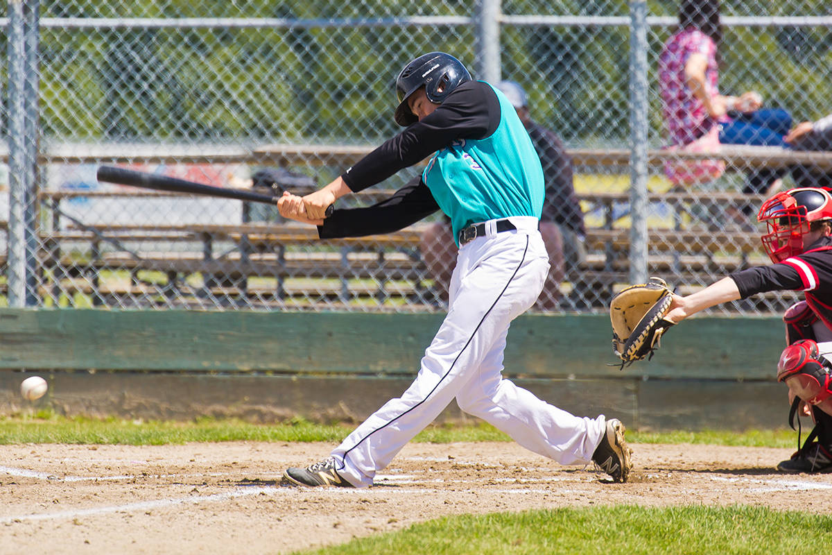 White Rock Tritons alum Jackson Hogg (Surrey, BC) went 5-for-12 (.417 batting average) in four games for Dodge City Community College. Photo: Peace Arch News