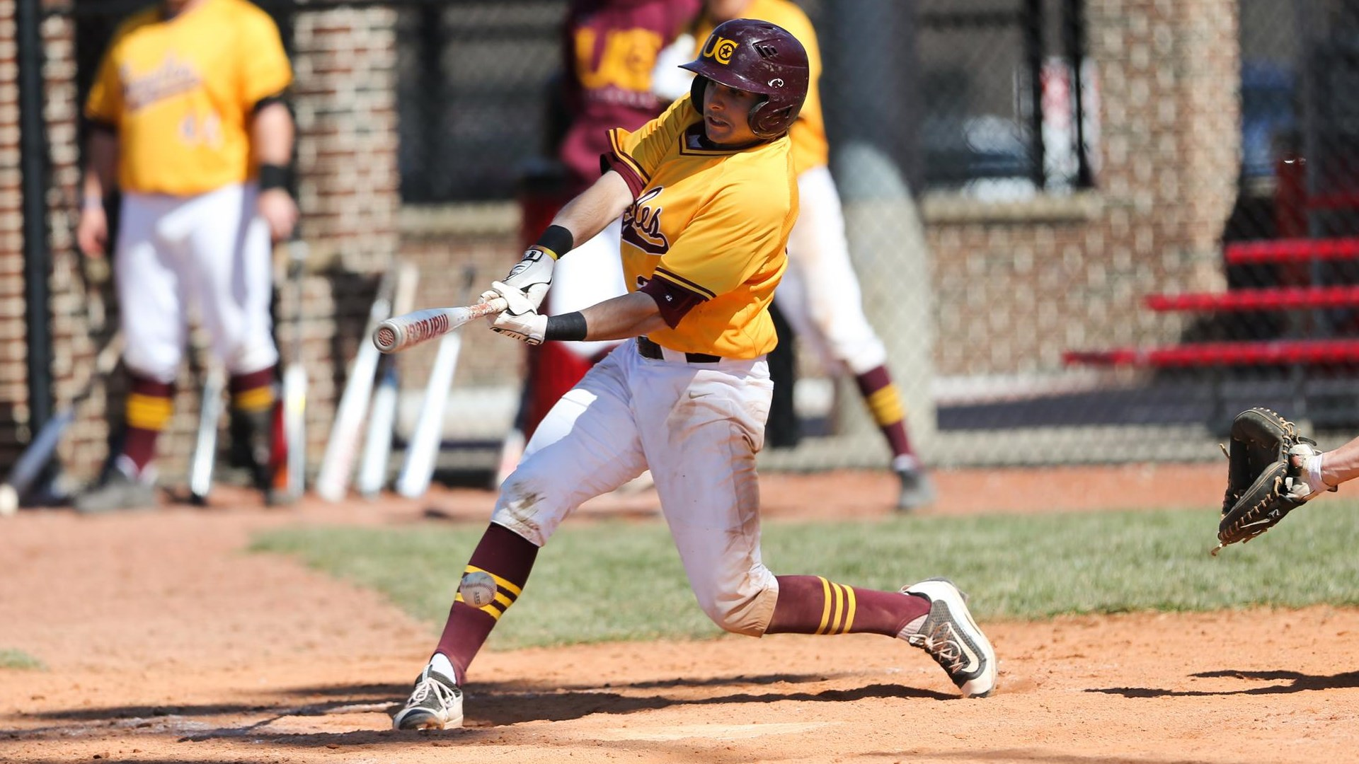 Toronto Mets alum Gianfranco Morello (Toronto, Ont.) had six hits - including two doubles and a triple - and five RBIs for Charleston in their first two games of the Mountain East Conference (MEC) championship tournament this weekend. Photo: University of Charleston Athletics