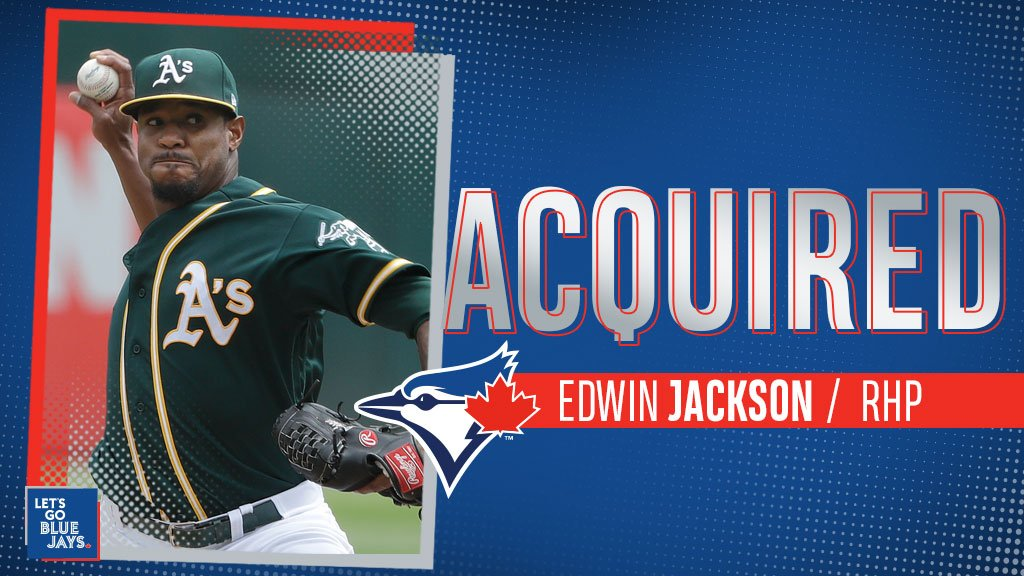 The Toronto Blue Jays acquired veteran right-hander Edwin Jackson on Saturday. Photo: Toronto Blue Jays/Twitter