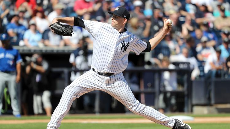 James Paxton (Ladner, B.C.) will be presented with the Canadian Baseball Hall of Fame's 2018 Tip O'Neill Award prior to Tuesday's game at Yankee Stadium. Photo: Kim Klement/USA Today Sports