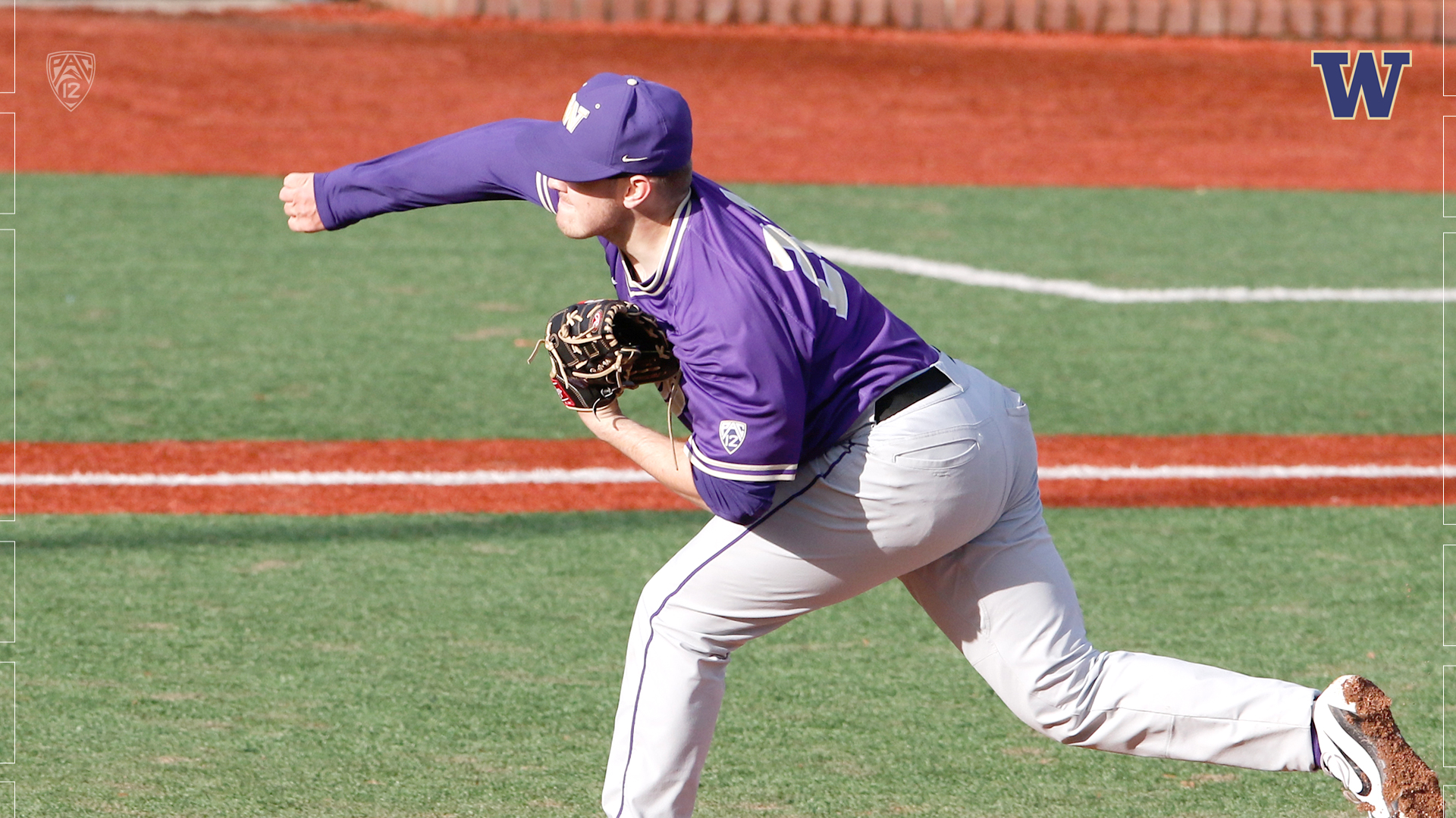 Vauxhall Academy grad Josh Burgmann (Nanaimo, B.C.) struck out nine and allowed just one run in 5 2/3 innings to pick up a win for the University of Washington Huskies. Photo: University of Washington Athletics