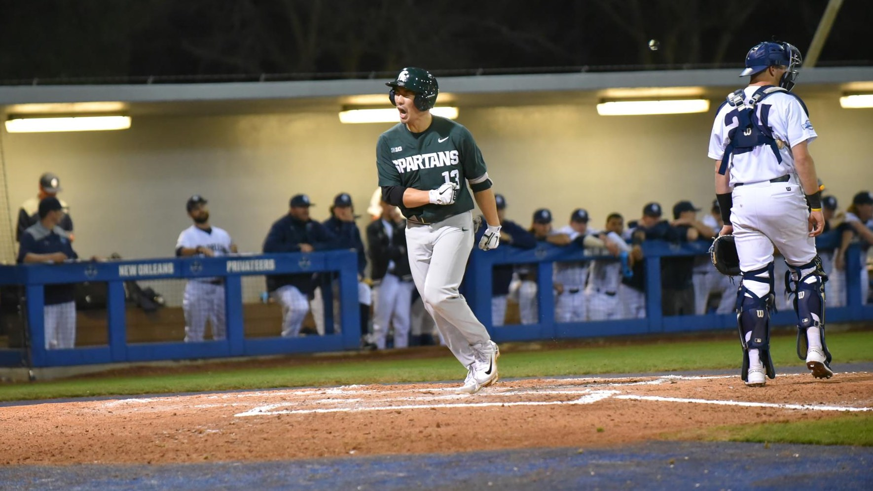 Ontario Blue Jays alum Royce Ando (Mississauga, Ont.) went 8-for-15 (.533 battting average) in four games for Michigan State. Photo: Michigan State Athletics