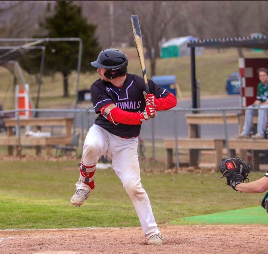 Toronto Mets alum Liam Hicks (Toronto, Ont.) was named Region XVI Player of the Year. He was given the honour after hitting .440 with 14 home runs and 56 RBIs in 49 games for the Mineral Area College Cardinals this season. Photo: Mineral Area College Athletics